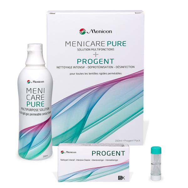 produit lentille Pack 1+1 Menicare Pure & Progent