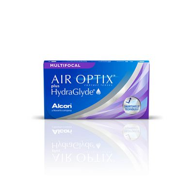 produit lentille Air Optix plus Hydraglyde multifocal 3