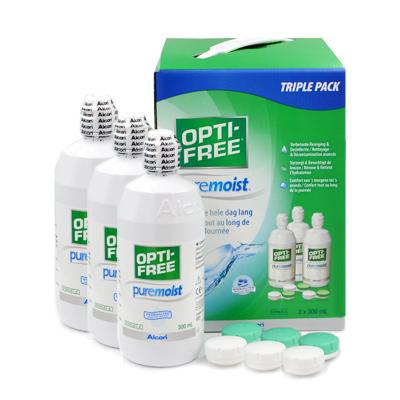 produit lentille Opti-free Pure Moist 3x300ml