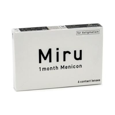 produit lentille Miru 1 month for Astigmatism