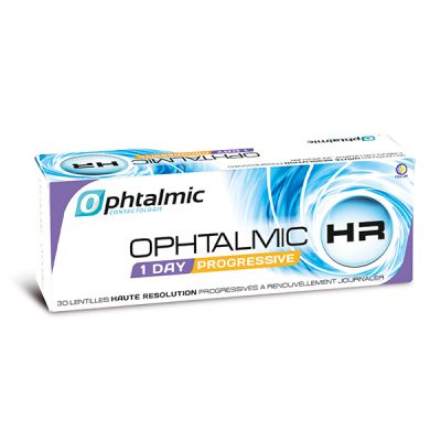 produit lentille Ophtalmic HR 1 Day Progressive 30